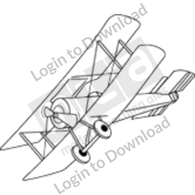 WWI fighter plane B&W