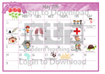 Calendar May Events : Lesson zone au months of the year