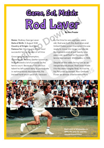 Game, Set, Match: Rod Laver