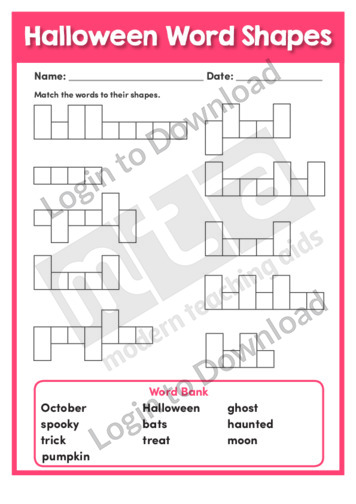 Halloween Word Shapes