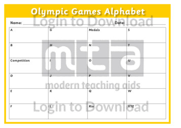 Olympic Games Alphabet