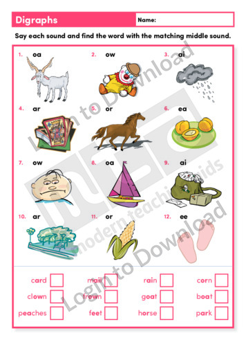 Digraphs 1 (Level 3)