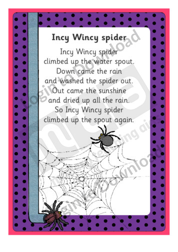 Incy Wincy Spider