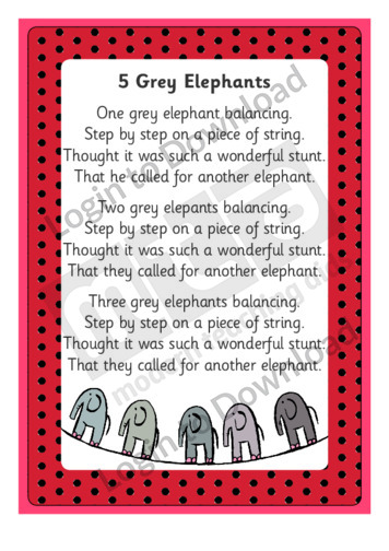 5 Grey Elephants