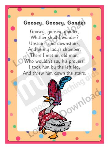 Goosey, Goosey, Gander