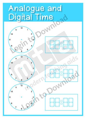 Analogue and Digital Time Clock Templates