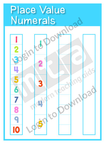 Place Value Numerals Template