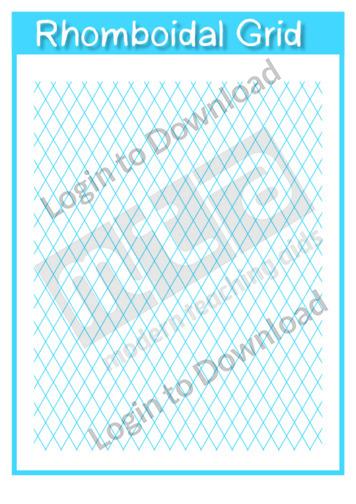 Rhomboidal Grid Template