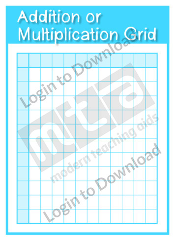 Addition or Multiplication Grid Template