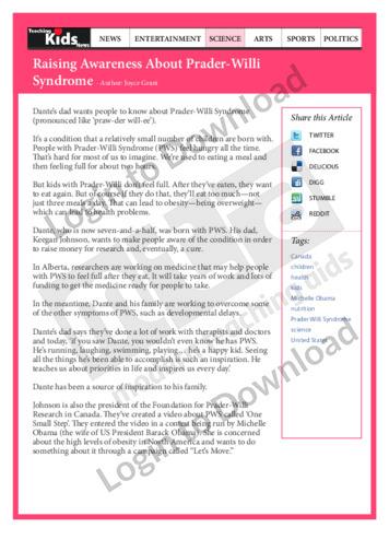 Raising Awareness About Prader-Willi Syndrome