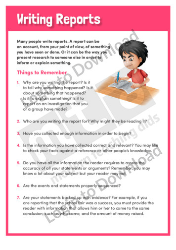 Writing Reports 3
