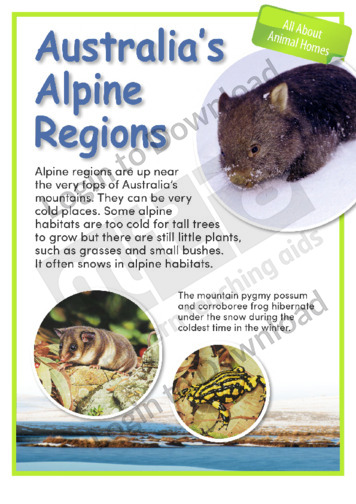 Australia's Alpine Regions