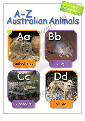 A to Z Australian Animals