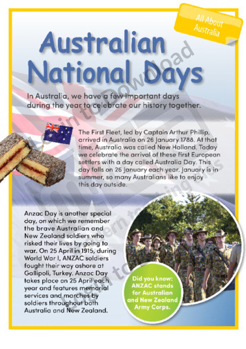 Australian National Days