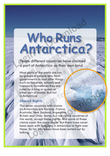 Who Runs Antarctica?