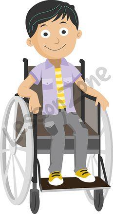 Boy in wheelchair