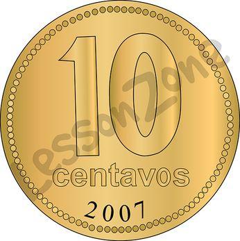 Argentina, 10c coin