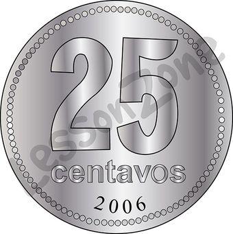 Argentina, 25c coin