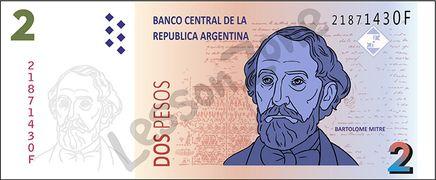 Argentina, $2 note
