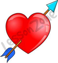 Love heart and arrow