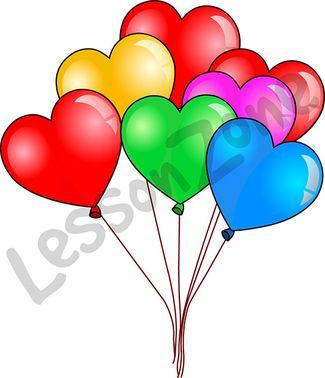 Love heart balloons
