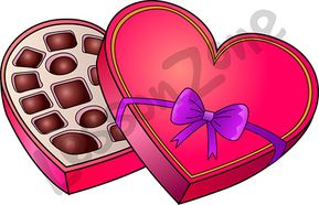 Love heart chocolate box