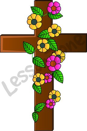 Crucifix with flowers