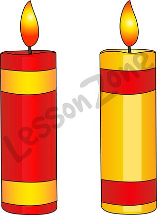 Red and gold candles