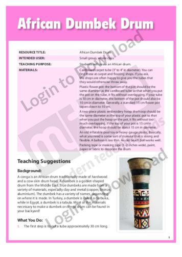 African Dumbek Drum