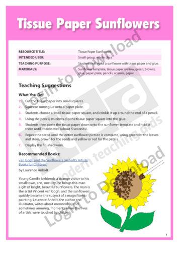 Tissue Paper Sunflowers