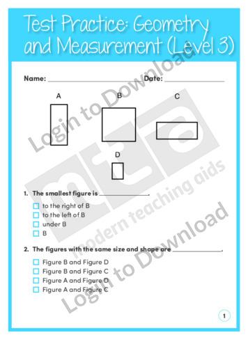Geometry and Measurement (Level 3)