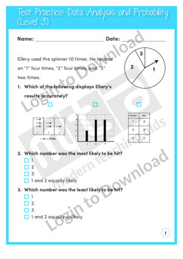 Data Analysis and Probability (Level 3)