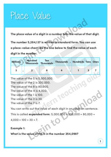 Place Value (Level 4)