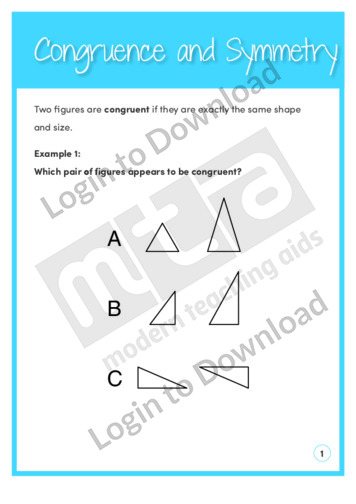 Congruence and Symmetry (Level 5)