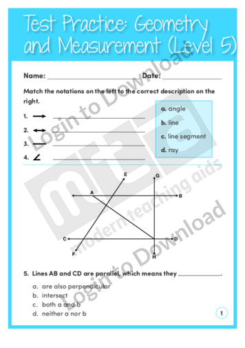 Geometry and Measurement (Level 5)