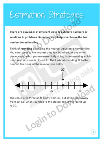 Estimation Strategies (Level 6)