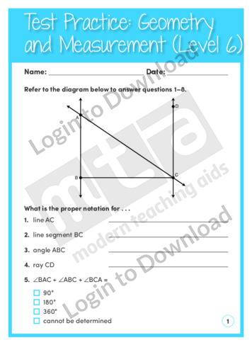 Geometry and Measurement (Level 6)