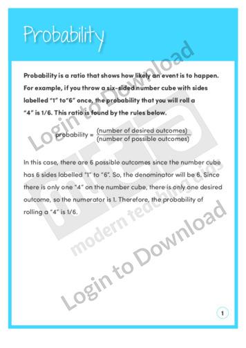 Probability (Level 6)