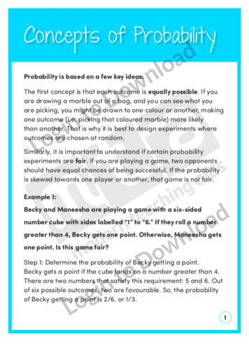 Concepts of Probability