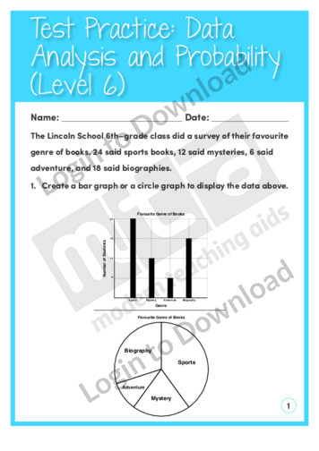 Data Analysis and Probability (Level 6)