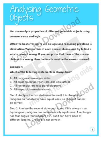 Analysing Geometric Objects
