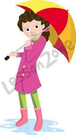 Girl with umbrella