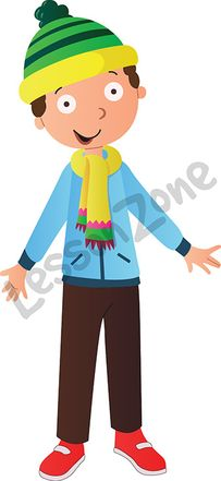 Boy with hat and scarf