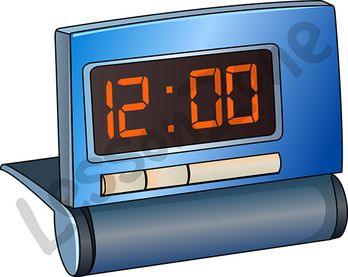 Digital clock face hour