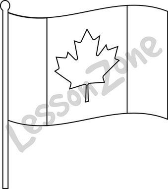 Canada, flag B&W