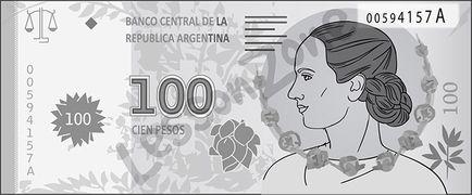 Argentina, $100 note B&W