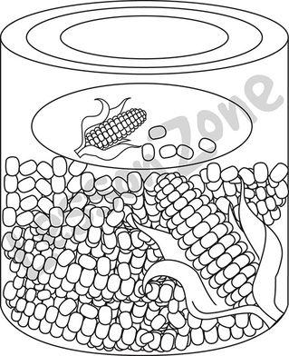 Can of corn B&W