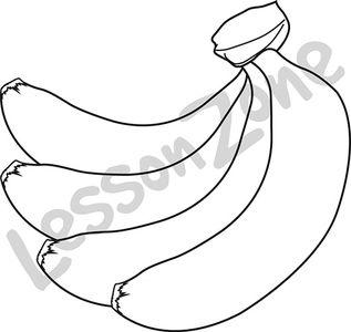 Bunch of bananas B&W