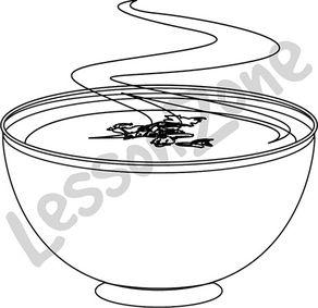 Bowl of soup B&W