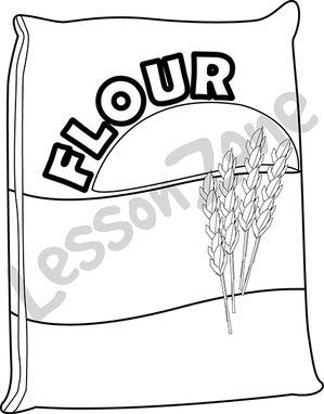 Bag of flour B&W